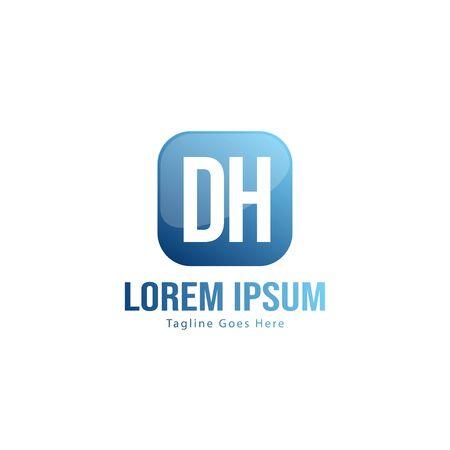 DH Letter Logo Design. Creative Modern DH Letters Icon Illustration