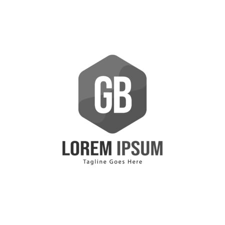 Initial GB logo template with modern frame. Minimalist GB letter logo vector illustration