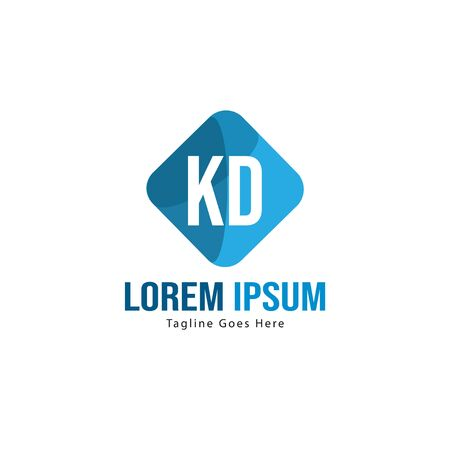 Initial KD logo template with modern frame. Minimalist KD letter logo vector illustration Stockfoto - 129194964