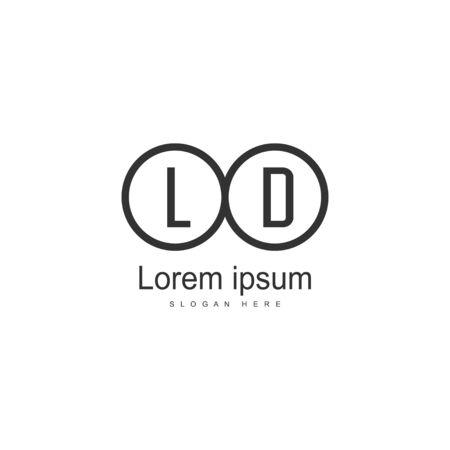 Initial LD logo template with modern frame. Minimalist LD letter logo vector illustration Stockfoto - 129249351