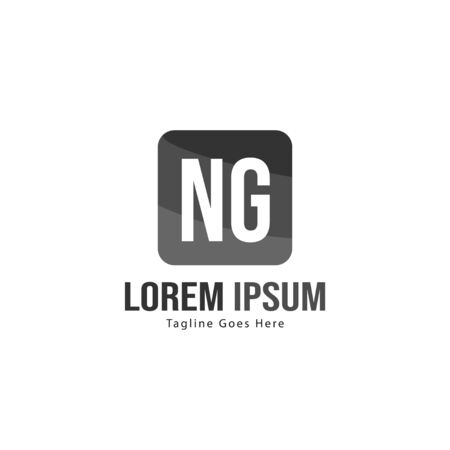 Initial NG logo template with modern frame. Minimalist NG letter logo vector illustration Ilustrace