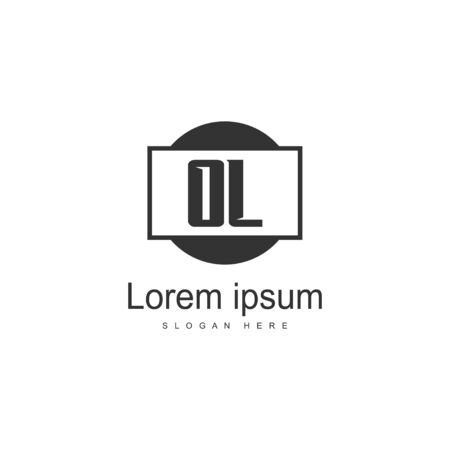 Initial OL logo template with modern frame. Minimalist OL letter logo vector illustration Ilustração