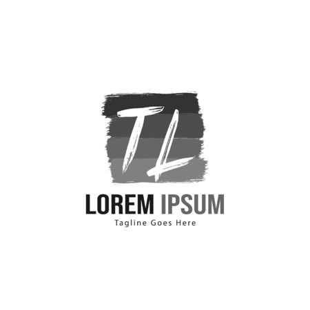 Initial TL logo template with modern frame. Minimalist TL letter logo vector illustration