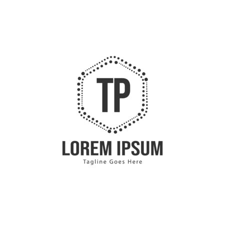 Initial TP logo template with modern frame. Minimalist TP letter logo vector illustration 写真素材 - 132104230