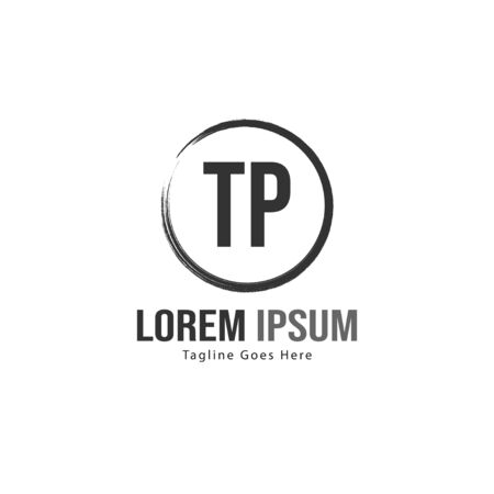 Initial TP logo template with modern frame. Minimalist TP letter logo vector illustration 写真素材 - 132104302