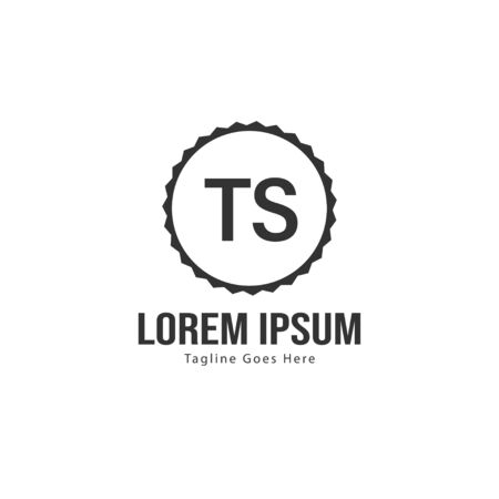 Initial TS logo template with modern frame. Minimalist TS letter logo vector illustration 일러스트