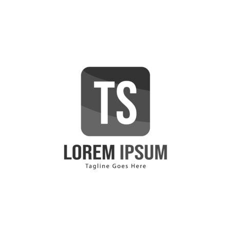 Initial TS logo template with modern frame. Minimalist TS letter logo vector illustration Ilustração