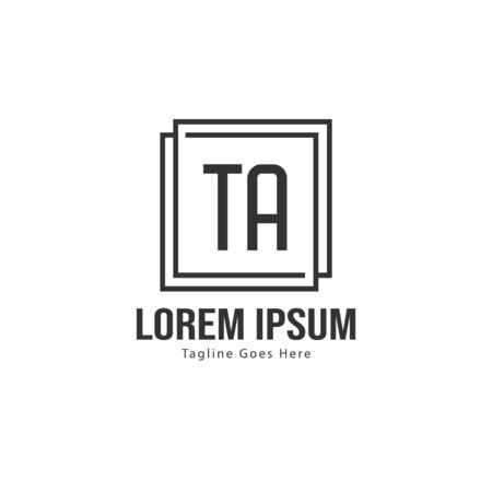 Initial TA logo template with modern frame. Minimalist TA letter logo vector illustration Stockfoto - 133493049