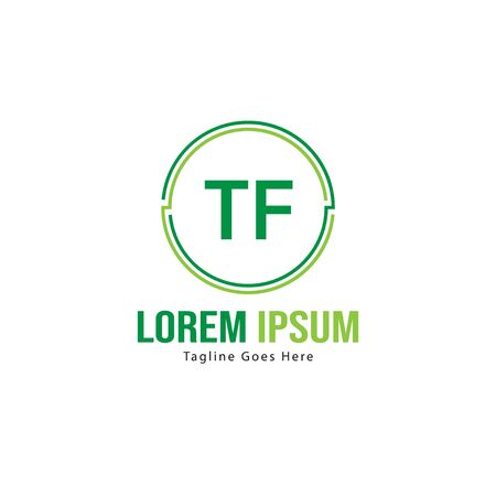 Initial TF logo template with modern frame. Minimalist TF letter logo vector illustration Stok Fotoğraf - 133826868