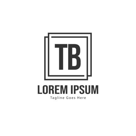 Initial TB logo template with modern frame. Minimalist TB letter logo vector illustration Stockfoto - 133827147