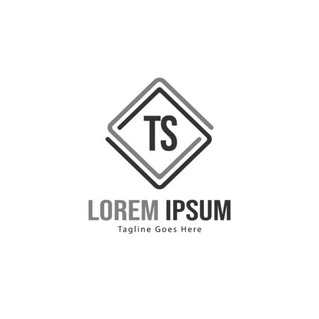 Initial TS logo template with modern frame. Minimalist TS letter logo vector illustration Stockfoto - 133827252