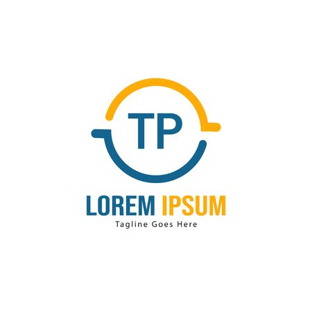 Initial TP logo template with modern frame. Minimalist TP letter logo vector illustration Stockfoto - 133827327