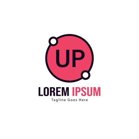 UP Letter Logo Design. Creative Modern UP Letters Icon Illustration