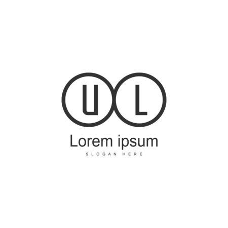 UL Letter Logo Design. Creative Modern UL Letters Icon Illustration