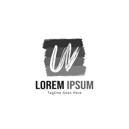 UV Letter Logo Design. Creative Modern UV Letters Icon Illustration Иллюстрация