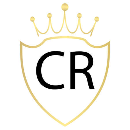 CR Letter Design With Simple style