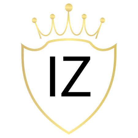IZ Letter Logo Design With Simple style