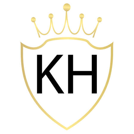 KH Letter Logo Design With Simple style