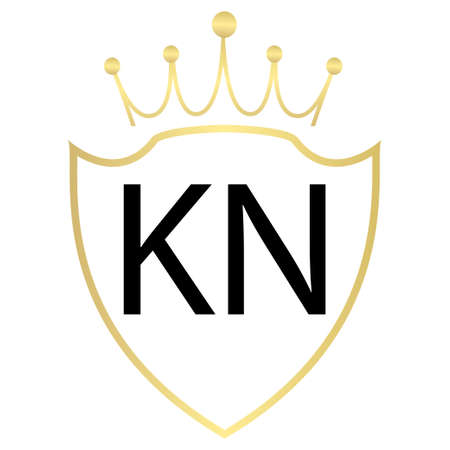 KN Letter Logo Design With Simple style