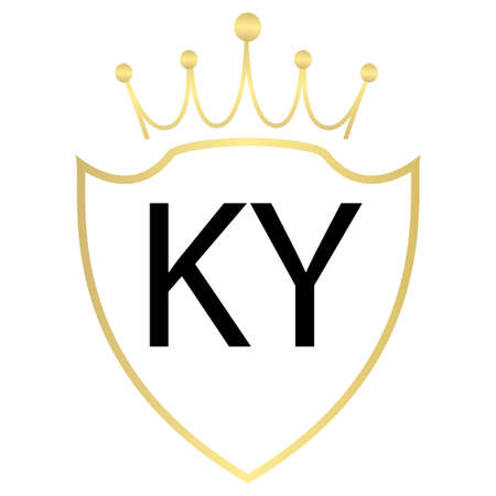 KY Letter Logo Design With Simple style