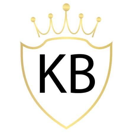 KB Letter Logo Design With Simple style Ilustração