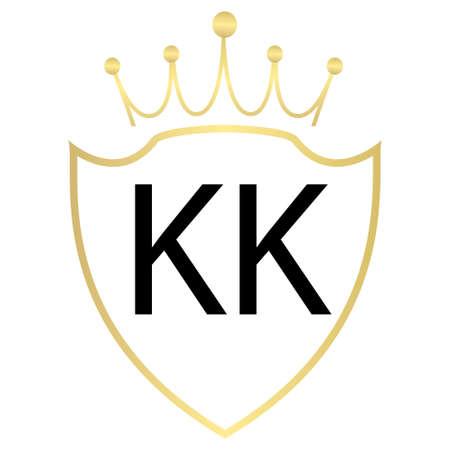 KK Letter Logo Design With Simple style Ilustração