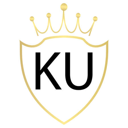 KU Letter Logo Design With Simple style