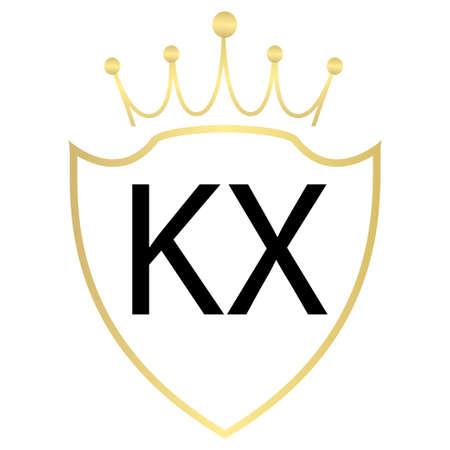 KX Letter Logo Design With Simple style Ilustração