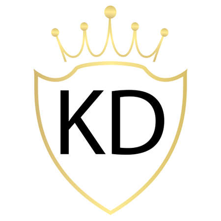 KD Letter Logo Design With Simple style