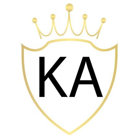 KA Letter Logo Design With Simple style Ilustração