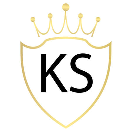 KS Letter Logo Design With Simple style
