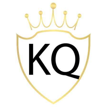 KQ Letter Logo Design With Simple style