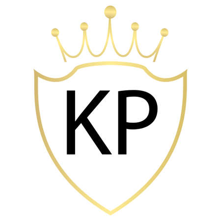 KP Letter Logo Design With Simple style