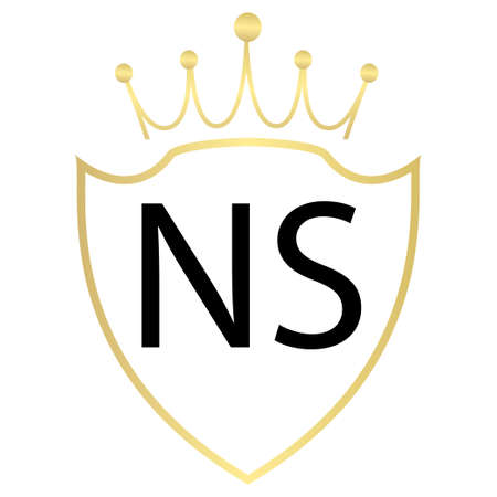 NS Letter Logo Design With Simple style