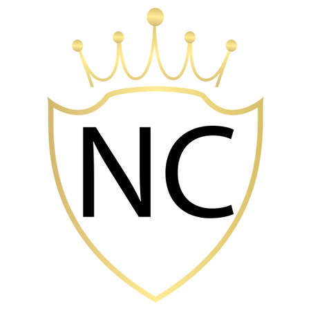NC Letter Logo Design With Simple style