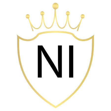 NI Letter Logo Design With Simple style