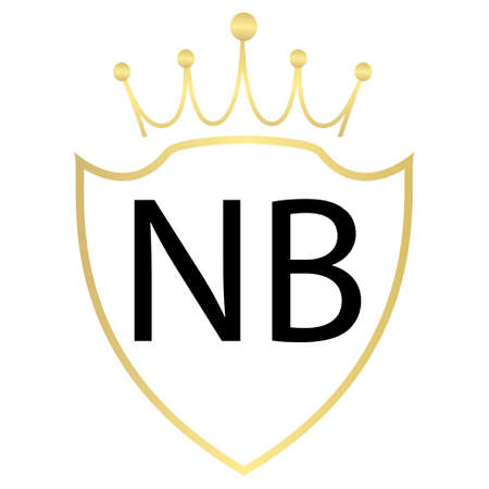 NB Letter Logo Design With Simple style