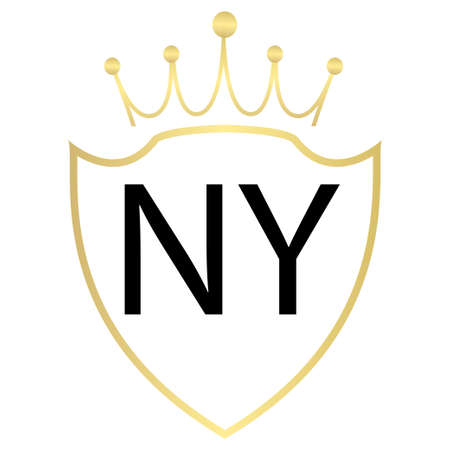NY Letter Logo Design With Simple style Ilustração