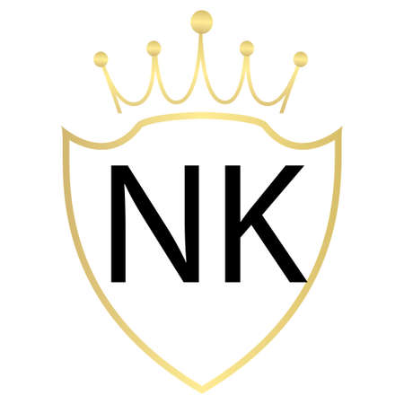 NK Letter Logo Design With Simple style