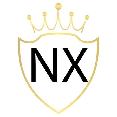 NX Letter Logo Design With Simple style