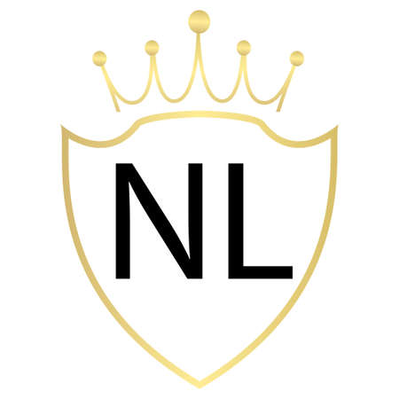 NL Letter Logo Design With Simple style Ilustração