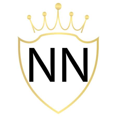 NN Letter Logo Design With Simple style Ilustração
