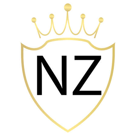 NZ Letter Logo Design With Simple style