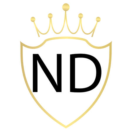 ND Letter Logo Design With Simple style