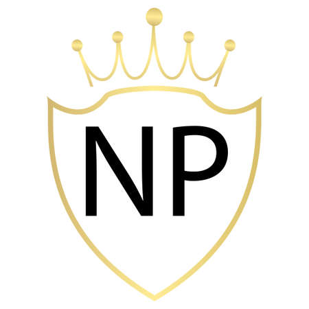 NP Letter Logo Design With Simple style