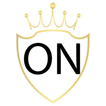 ON letter logo design with simple style Ilustração