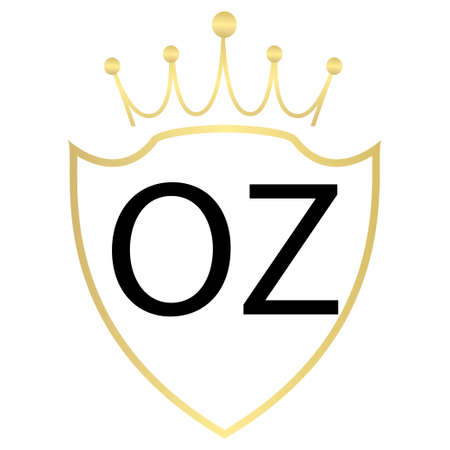 OZ letter logo design with simple style