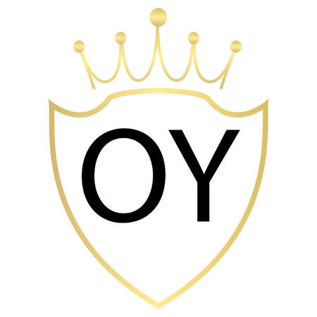 OY letter logo design with simple style