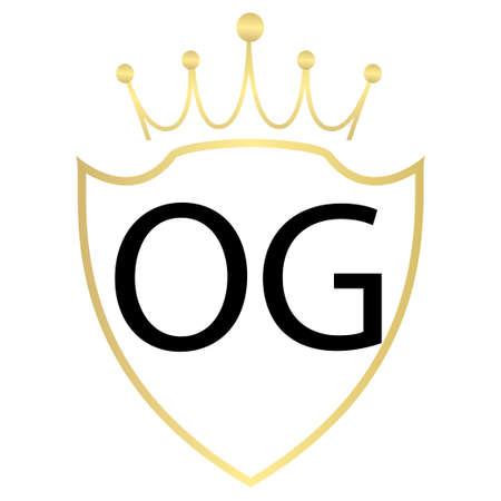 OG letter logo design with simple style