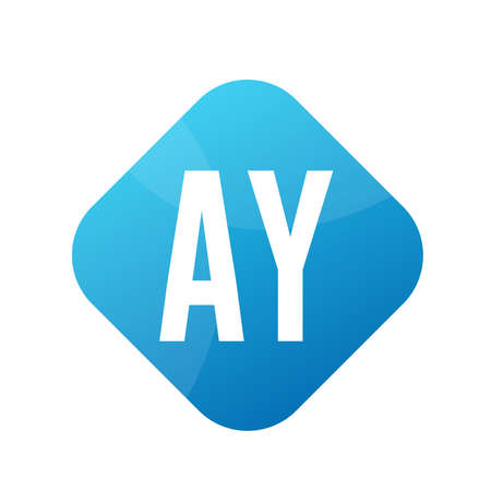 AY Letter Logo Design With Simple style